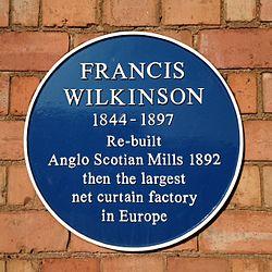 Francis wilkinson plaque