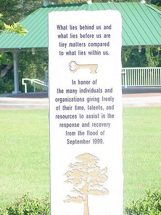 Franklin, Virginia - 1999 flood memorial