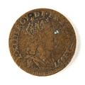 Franskt mynt med Ludvig XIV, 1657 - Skoklosters slott - 109458.tif