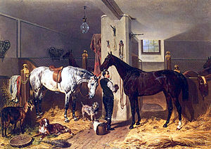 Franz Adam - The Stable Lad (1860)