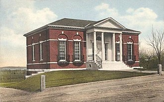 Kingston, Massachusetts - The old Frederic C. Adams Library in 1915