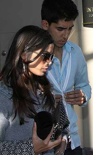 Freida Pinto with Dev Patel at the 2008 Toront...