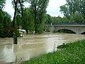 Freising Isar Hochwasser an der Korbinianbrücke 2013 1.JPG