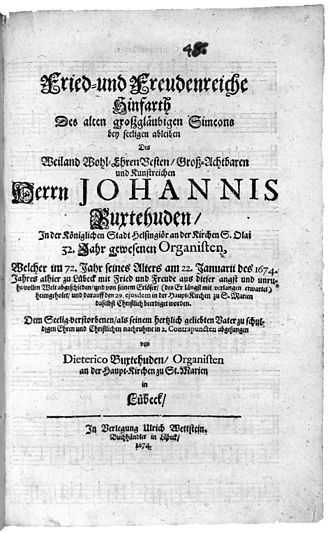 Mit Fried und Freud (Buxtehude) - Title page of the bundle