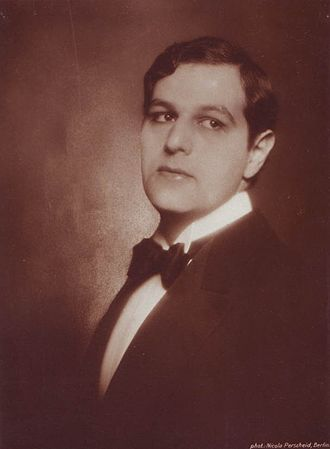 Fritz Delius (actor) - Photograph of Delius taken in 1920