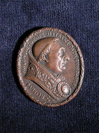 Cristoforo di Geremia - Pope Paul II medal front