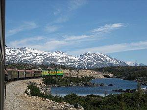 Zug der White Pass and Yukon Railway