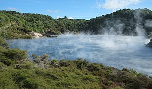 Frying Pan Lake - Image: Frying Pan Lake in Waimangu Volcanic Valley