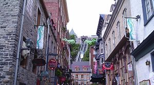 English: Sous-Le-Fort St. in Old Quebec City, ...