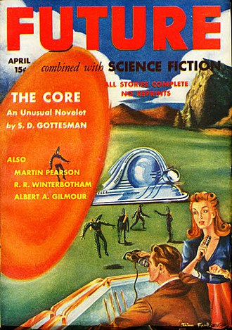 "Cyril M. Kornbluth - An early Kornbluth novelette, ""The Core"", was the cover story for the April 1942 issue of Future. It carried the ""S. D. Gottesman"" byline, a pseudonym Kornbluth used mainly for collaborations with Frederik Pohl or Robert A. W. Lowndes"
