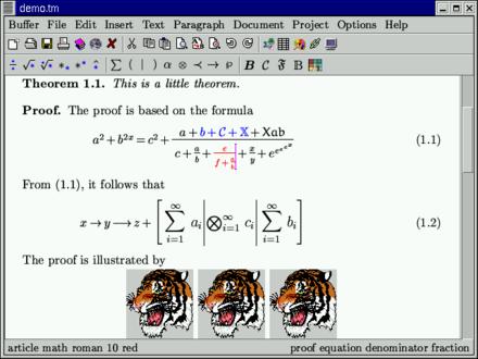 GNU TeXmacs - WikiMili, The Free Encyclopedia