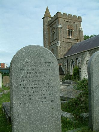 George Everest - Everest's grave, St Andrew's Church, Church Road, Hove.