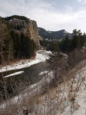 Gallatin River - The Gallatin River during winter