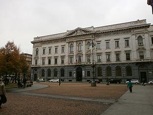 Gallerie di Piazza Scala - Image: Gallerie di Piazza Scala Milano Palazzo della Banca Commerciale Italiana facciata 001