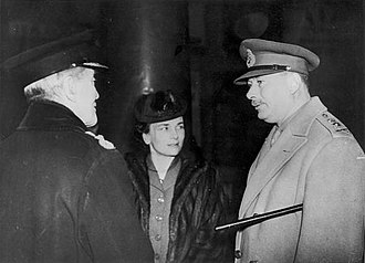 Philip Game - Commissioner Game (left) with the Duke and Duchess of Gloucester at Euston Station on the eve of their departure for Australia in 1945.