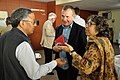 Ganga Singh Rautela - Jim Hollington - Sujata Sen - Tea Break Discussion - Collections and Storage Management Workshop - NCSM - Kolkata 2016-02-18 9686.JPG