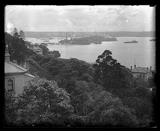 Garden Island (New South Wales) - Garden Island before it was connected to the mainland, 1910-1928