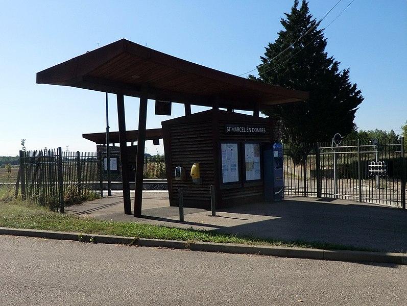 Gare de Saint-Marcel-en-Dombes.