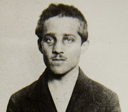 Gavrilo Princip, who assassinated Franz Ferdinand, which triggered the start of World War I. Gavrilo Princip, cell, headshot.jpg