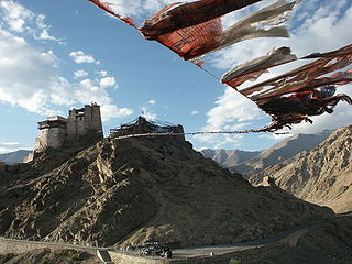 Prayer flag Tibetan religious item