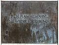 Gedenktafel Theodor-Heuss-Platz (Weste) Nie wiederVertreibung.jpg