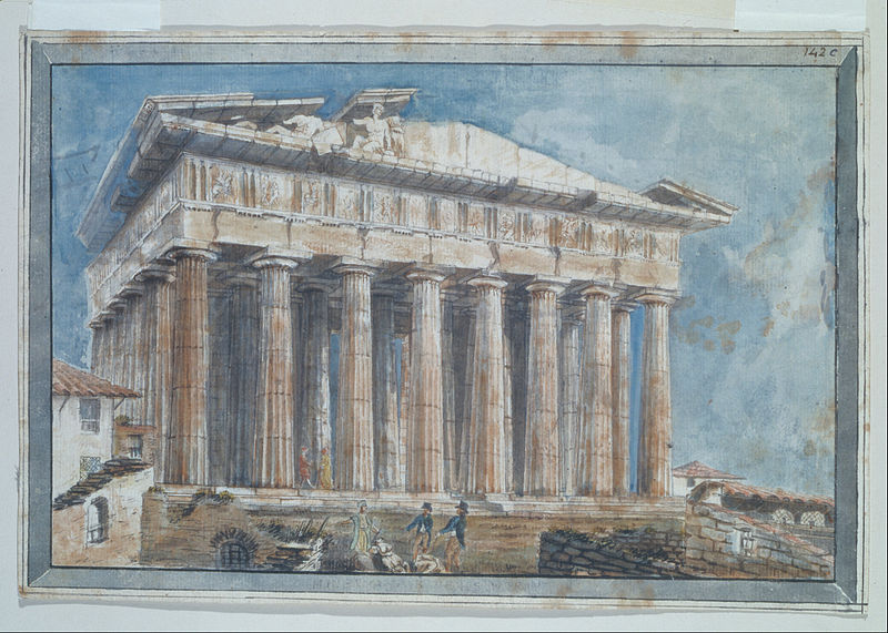 File:Gell Sir William - The removal of the Sculptures from the Pediments of the Parthenon by Elgin - Google Art Project.jpg