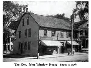 John Winslow (British Army officer) - The General John Winslow House (1730), Plymouth Mass, photographed 1921