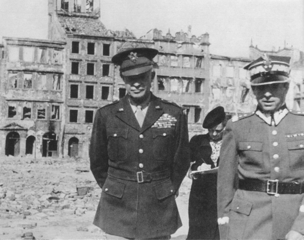 General Dwight Eisenhower in Warsaw, 1945