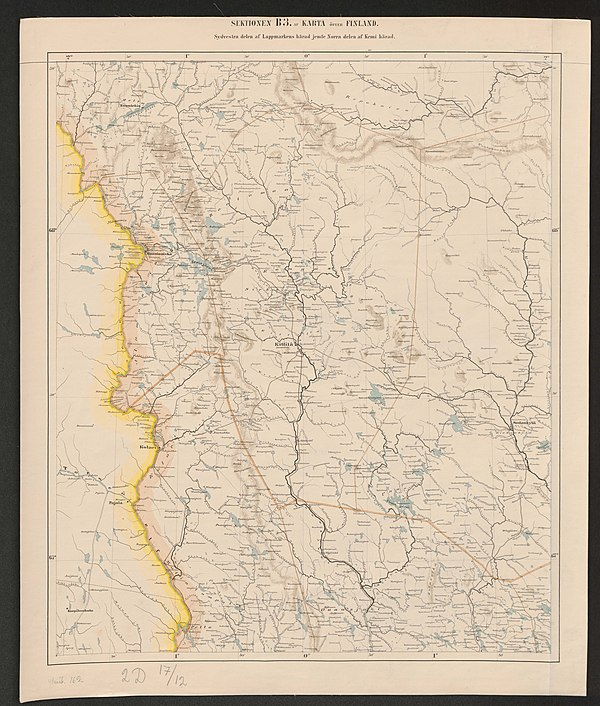 600px general map of the grand duchy of finland 1863 sheet b3