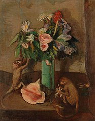 Fleurs et singes