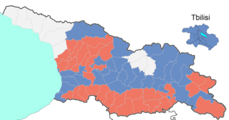 Georgian parliamentary election, 2012 - Winners by constituency