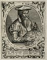 Gerard Mercator (Cremer). Line engraving by T. de Bry. Wellcome V0003978.jpg