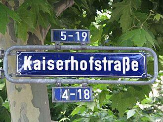 Kaiserhofstraße - Kaiserhofstraße