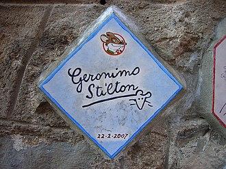 Geronimo Stilton - Tile of the muretto in Alassio