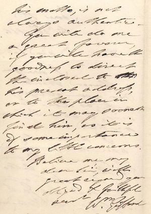 William Gifford - William Gifford letter