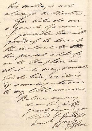 William Gifford - William Gifford letter