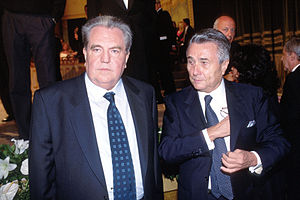 Alberto Arbasino - Arbasino (right) with Giuseppe Pontiggia