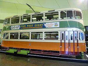Glasgow Corporation Tramways - Last British-built double-decker, Cunarder car no.1392