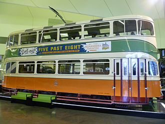 Glasgow Corporation Tramways - Last British-built double-decker, Cunarder car no.1392