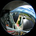 Glasgow Science Centre fisheye from tower.jpg