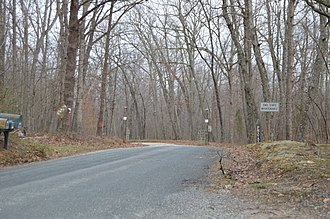 National Register of Historic Places listings in Fluvanna County, Virginia - Image: Glen Arvon entrance