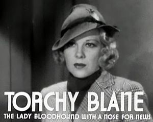Glenda Farrell - Farrell in the first Torchy Blane film, Smart Blonde (1937)