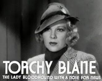 Torchy Blane - Glenda Farrell as Torchy Blane in Smart Blonde (1937).