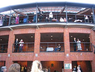 Glyndebourne - The balcony of the present theatre