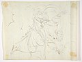 God The Father Creating (?) (r.); Study of neo-classical statue of a nude male (v.) MET DP811537.jpg