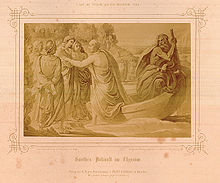 Goethes Ankunft im Elysium (aus dem König-Ludwig-Album) (Quelle: Wikimedia)