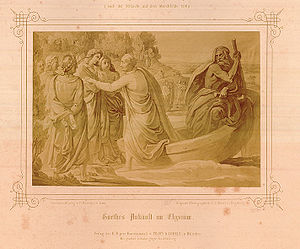 Goethe's Ankunft im Elysium, by Franz Nadorp.