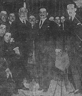 Maurism - Antonio Maura and Antonio Goicoechea in a Maurist meeting (April 1917).