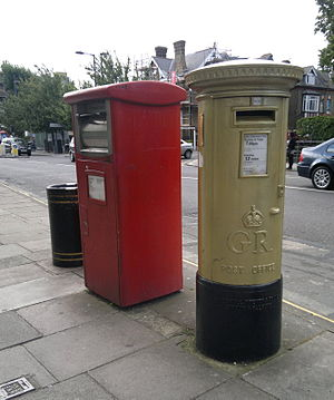 Charlotte Dujardin - The gold post box for Charlotte Dujardin in Enfield.