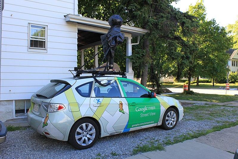 File:Google Maps Street View camera car, 968 West Cross Avenue, Ypsilanti, Michigan - panoramio.jpg